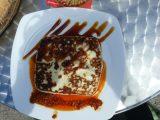 Ziegenkäse mit Mojo-Sauce und Palmhonig